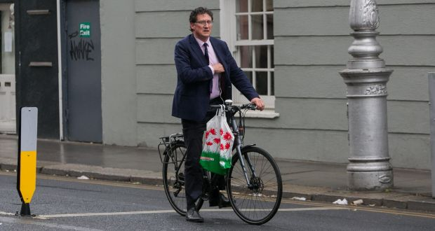 Green Party leader Eamon Ryan near Leinster House in Dublin. File photograph: Collins