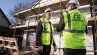 SuperHomes retrofit advisor David Flannery on site with a Tipperary Energy Agency client John Sheahan in Limerick city.