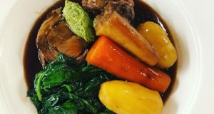 Navarin of lamb: scrag end of lamb, aka neck fillet, can withstand the extended cooking time