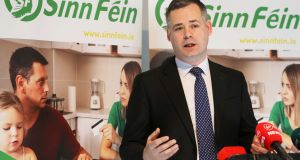 Sinn Féin deputy leader Pearse Doherty: 'These parties, Fine Gael and Fianna Fáil specifically, cannot be trusted.' Photograph: Leah Farrell/RollingNews.ie