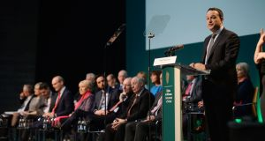 There will be a review of the National Development Plan launched two year ago by Taoiseach Leo Varadkar. Photograph:  Alan Betson / The Irish Times