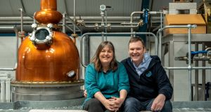 Sliabh Liag founders Moira Doherty and James Doherty: 'Our gin is different, and savoury. It is not a pretty, sweet gin. It polarises, but a lot of people really like it.'