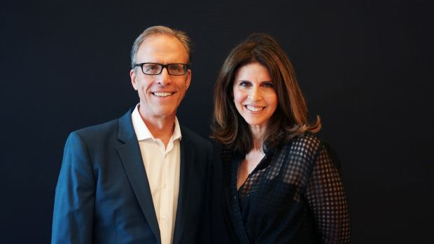 Film-makers Amy Ziering and Kirby Dick. Photograph: Entertainment One