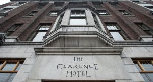 The Clarence Hotel, Dublin. Its parent company is in dispute with Axa over an insurance payout related to the Covid-19 interruption to its business. Photograph: Dave Meehan
