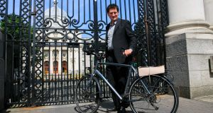 Green Party leader Eamon Ryan before government-formation talks at Government Buildings, Dublin. Photograph: Gareth Chaney/Collins