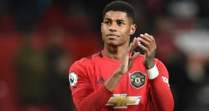 Marcus Rashford: stepped up his campaign to pressure the UK government into feeding hungry children during the school holidays. Photograph: Oli Scarff/AFP