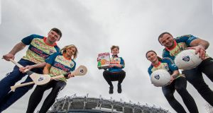 Declan Hannon, Sarah Dervan, Sean Wade, Sinead Ahearn and Michael Murphy at the launch of last year's Cúl Camps. Photo: Billy Stickland/Inpho