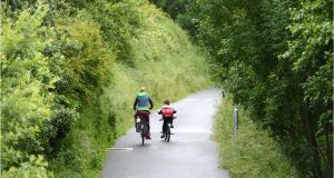 The 42km Great Western Greenway in Co Mayo cost €5.7m to develop. The 32km South Kerry Greenway is now estimated to cost more than €20m. Photograph: Dara Mac Dónaill