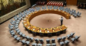 The State secured 128 votes to clinch a spot on the UN Security Council. File photograph: Stephane Lemouton/AFP