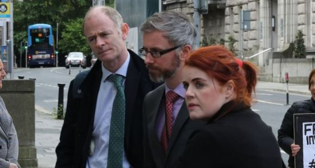 The Green Party's Ossian Smyth (left), pictured with other members of the party's negotiating team Roderic O'Gorman and Neasa Hourigan at Leinster House last month. Photograph Nick Bradshaw / The Irish Times