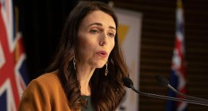 Prime minister Jacinda Ardern said the new cases did not change New Zealand's Covid-free status. File photograph: Marty Melville/AFP