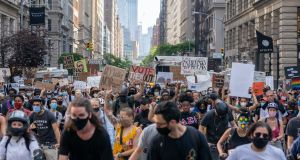 Protesters march down 5th avenue  on June 10th in New York City. Photograph: David Dee Delgado/Getty Images