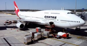 Qantas has cancelled all its international flights up to the end of October 2020. Photograph: Barbara Walton