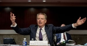 Robert Lighthizer, US trade representative at Wednesday's Senate Finance Committee hearing in the US. Photographer: Bloomberg