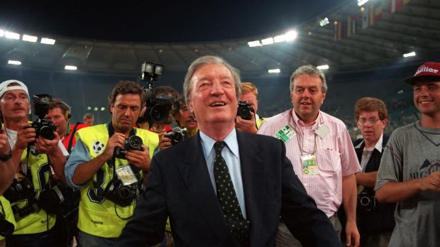While then taoiseach Charles Haughey had been compelled to accept a coalition with Des O'Malley's PDs in 1989, this was far from his mind when he walked towards fans at one of the Republic's games during Italia '90. File photograph: Inpho