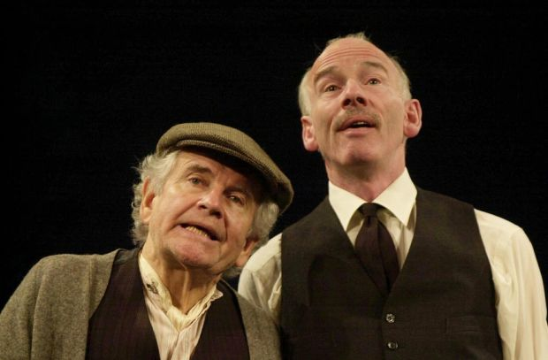 The Homecoming: Ian Holm in Harold Pinter's play, with John Kavanagh, at the Gate Theatre in Dublin in 2001. Photograph: Joe St Leger