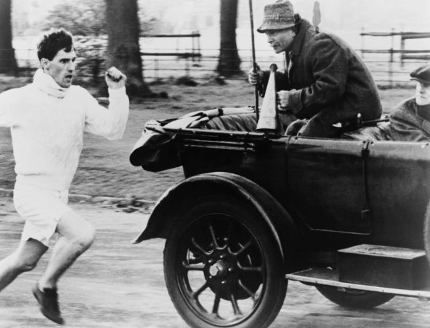 Chariots of Fire: Ian Holm, as coach Sam Mussabini, with Ben Cross in Hugh Hudson's 1981 film. Photograph: Warner Bros/Archive Photos/Getty