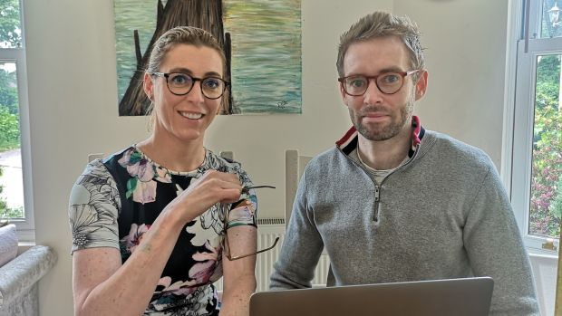 Dearbhaile Collins and Seamus of and Sapphire Eyewear, Cork