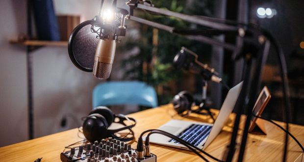 Even though podcasting is not as intrusive as a Zoom conference, it can be pleasantly intimate. Photograph: iStock