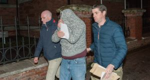 Thomas O'Sullivan (centre)  pleaded guilty at Cork Circuit Criminal Court  to the knife attack. File photograph:  Provision