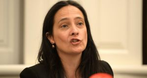 Green Party deputy leader Catherine Martin said that if the Greens entered government they would keep the commitments of the programme for government under constant review. Photograph: Dara Mac Dónaill