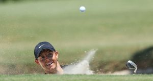 Rory McIlroy during the third round of the RBC Heritage in South Carolina. Photograph: Getty Images