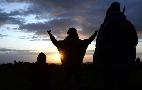 Summer solstice celebrations on the Hill of Tara, Co. Meath. Photograph: Dara Mac Donaill / The Irish Times
