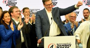 Serbian president, and Serbian Progressive Party leader, Aleksandar Vucic is accused of creating an autocratic system. Photograph: Getty