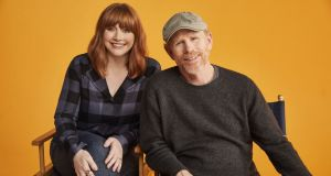 Dads: Bryce Dallas Howard with her father, Ron Howard. Photograph: Apple TV+