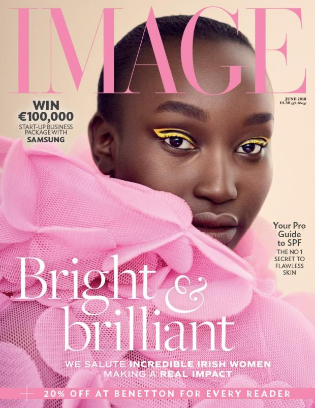 Appiok on the cover of Image magazine in June 2018. Photograph: Alex Hutchinson/courtesy of Image magazine