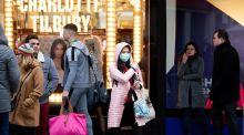 Shoppers return to Dublin city centre. Photograph: Tom Honan