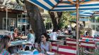 People dine outdoors in Austin, Texas, on June 17th. Photograph: Ilana Panich-Linsman/New York Times