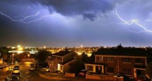 Heavy thunderstorms are expected to develop later on Thursday. File photograph: Noel Browne