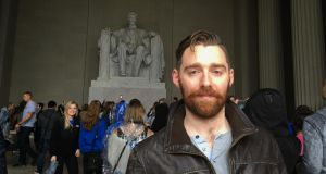 Matt Torney in front of the Lincoln Memorial in Washington DC.