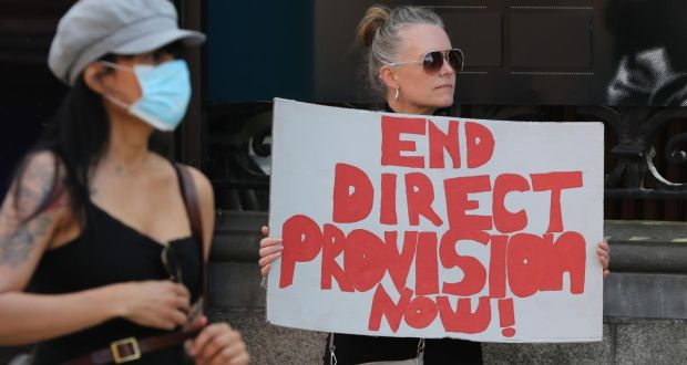 Protesters outside Leinster House in May call for the end of direct provision. This year, direct provision will cost the State about €200 million. Photograph: Nick Bradshaw