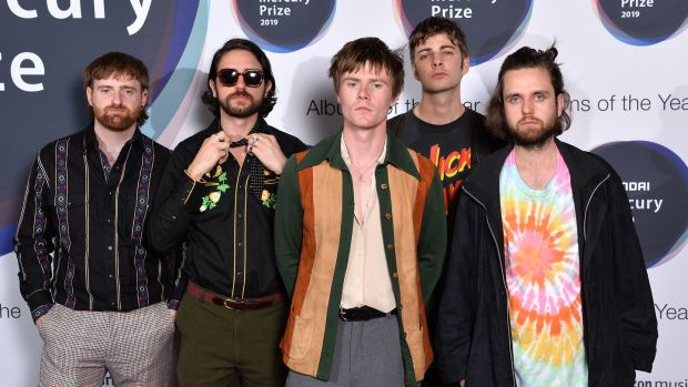 Fontaines DC at the 2019 Mercury Prize award ceremony in the Hammersmith Apollo in London. Photograph: Jeff Spicer/Getty