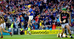 Tipperary's Séamus Callanan celebrates scoring his side's second goal during the All-Ireland Senior Hurling Final against Kilkenny in 2019. Photo: James Crombie/Inpho