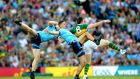 Dublin's James McCarthy and Brian Fenton challenge David Moran of Kerry for the ball during last year's All-Ireland Senior Football Championship final. Photo: James Crombie/Inpho