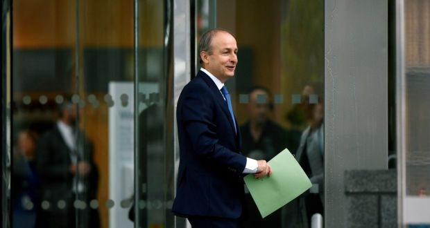 Fianna Fáil leader Micheál Martin arrives at the Convention Centre in Dublin on Saturday. Photograph: Aidan Crawley/EPA