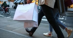 Shoppers' caution about spending eased this month as Government Covid-19 restrictions eased allowing some to return to work, a survey published today shows.