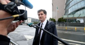 Green Party leader Eamon Ryan at the Convention Centre in Dublin on Saturday. Photograph: Alan Betson/The Irish Times