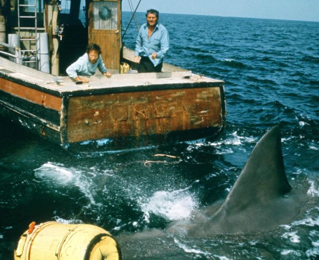 Jaws: Richard Dreyfuss with Robert Shaw in Steven Spielberg's 1975 film. Photograph: Universal