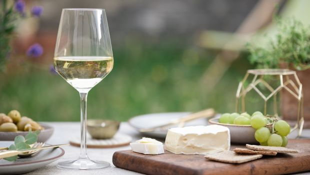 South African Premium Fairtrade Chenin Blanc from the Winemaker's Selection at Lidl pairs beautifully with Chene d'Argent Brie