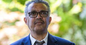 Dr Tedros Adhanom Ghebreyesus, director general of the World Health Organisation: 'We all want this to be over. We all want to get on with our lives.' Photograph: Salvatore Di Nolfi/EPA