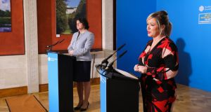 "First Minister Arlene Foster and Deputy First Minister Michelle O'Neill:  Ms O'Neill believes Taoiseach Micheál Martin will visit Northern Ireland ""over the course of the next number of days"". Photograph: Kelvin Boyes/Press Eye/PA"
