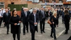 Thousands of people congregated in Belfast for the funeral of former IRA man