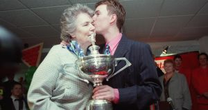 Ken Doherty with his mother Rose after winning the Snooker Workd Championship. Photograph: Matt Browne/Inpho