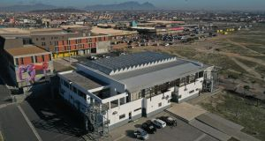 Khayelitsha Field Hospital is in a community sports centre in the township on the outskirts of Cape Town. Photograph: Médecins Sans Frontières