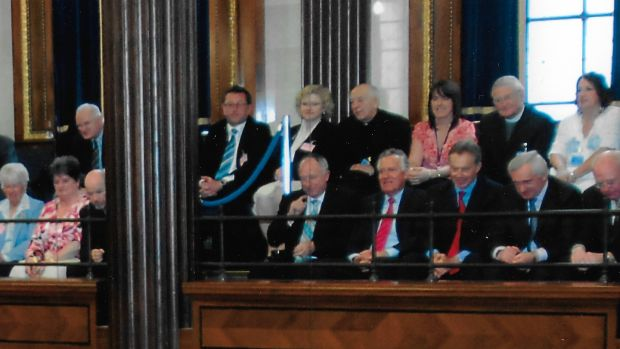 As Bertie Ahern and Tony Blair observed the Northern Assembly being restored in May 2007, Bobby Storey was sitting just a few seats over.