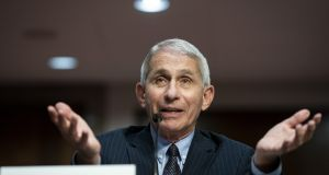 Anthony Fauci, director of the US National Institute of Allergy and Infectious Diseases, says a vaccine is still some time away. Photograph: Al Drago/Bloomberg